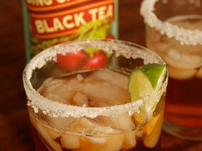 Bing Cherry Black Tea Tuaca Cocktail