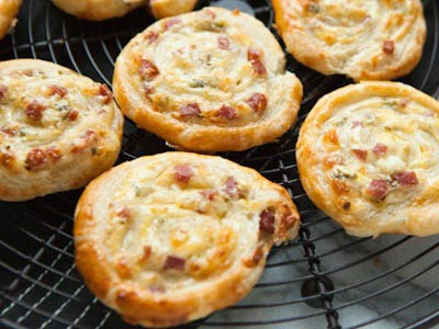 Cheddar and Smoked Summer Sausage Pinwheel Appetizer
