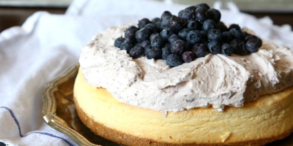 Blueberry Mousse Cheesecake Topping