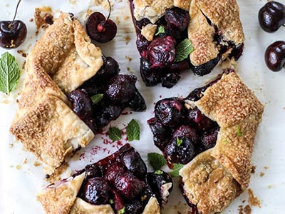 Simple, Fresh Cherry Galette