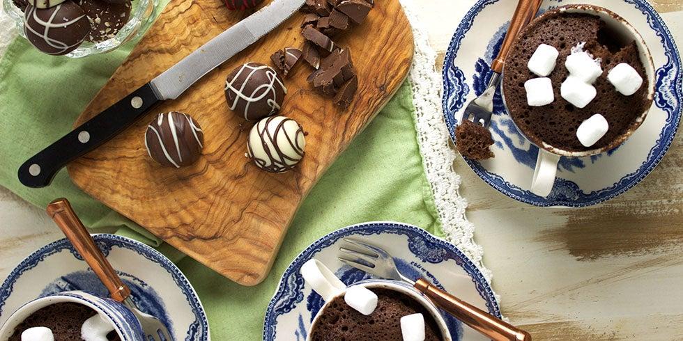 Chocolate Mug Cake with Truffles