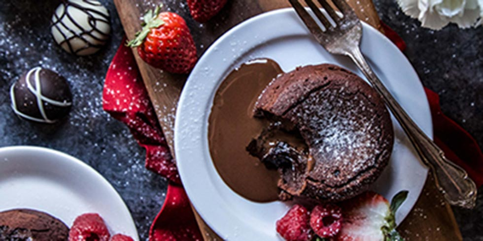 Romantic Chocolate Lava Cake