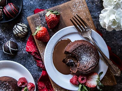 Romantic Chocolate Lava Cake