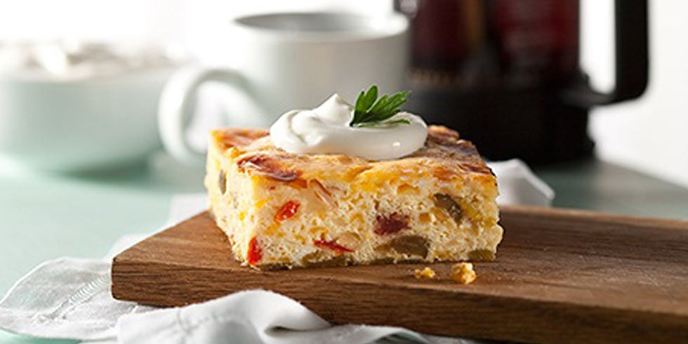 Monterey Jack and Green Chilis Egg Casserole
