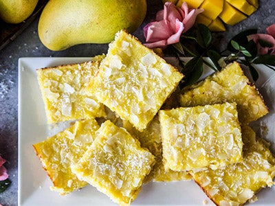 Mango Coconut Cookie Bars