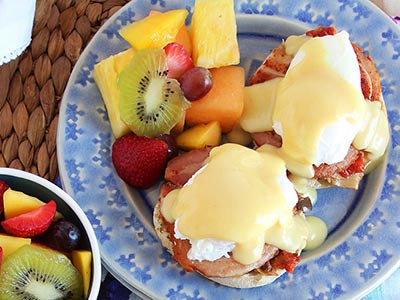 Mediterranean Style Eggs Benedict