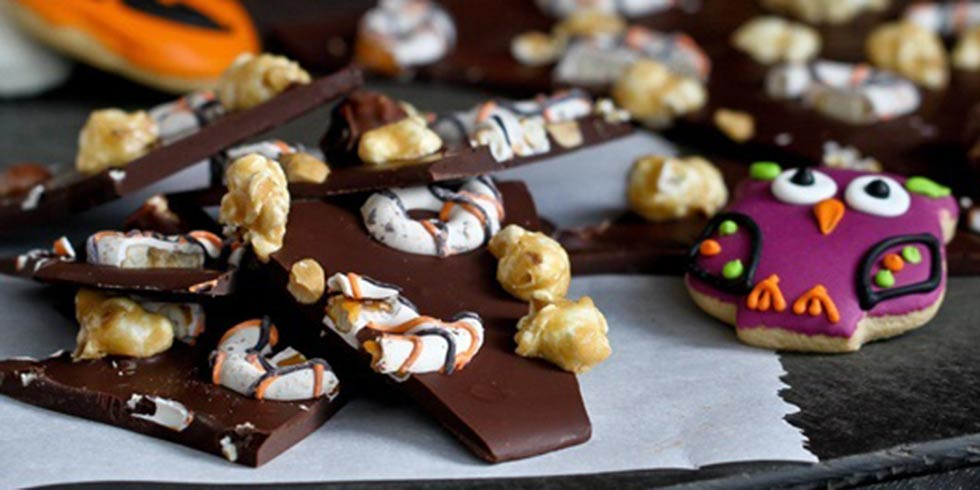 Moose Munch Chocolate Bark with Chocolate Pretzels