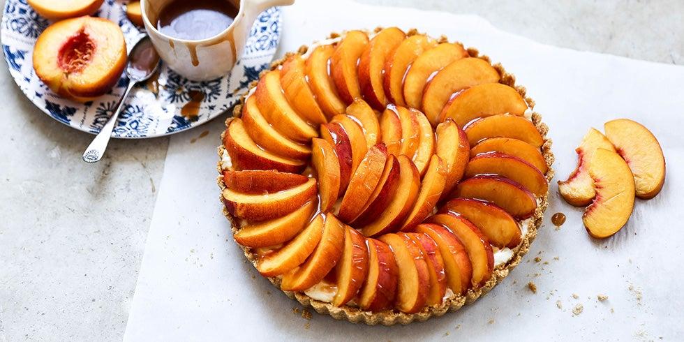 No-Bake Peach Tart Recipe