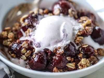 Oatmeal Cherry Crisp