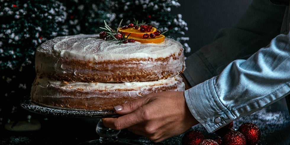 Orange Cake with Rum-Infused Frosting