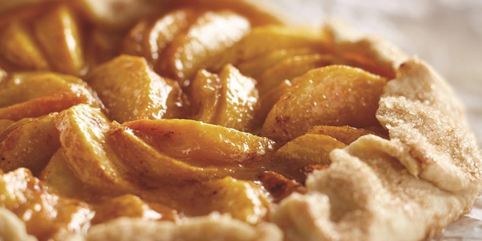 Simple and Rustic Peach Galette