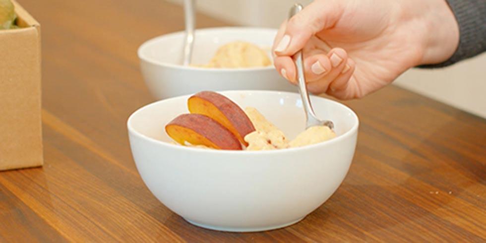 Refreshing Vegan Peach Nice Cream
