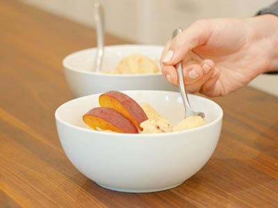 Refreshing Vegan Peach Nice Cream