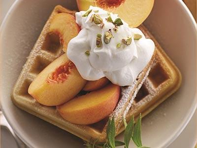 Peach Waffles