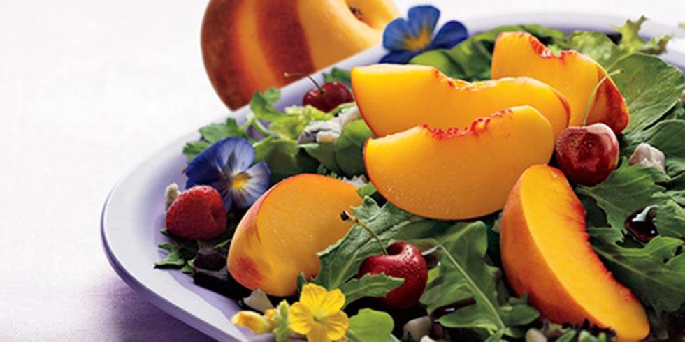 Peachy Suflower Salad