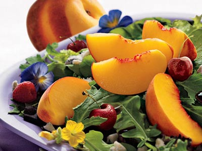 Peachy Suflower Salad