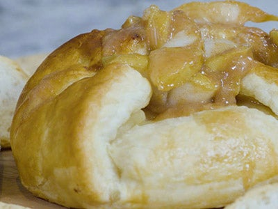 Pear Butter Baked Brie with Honey-Cinnamon Pears