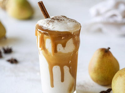 Pear Chai Smoothie with Caramel
