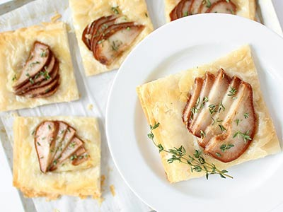 Brie and Pear Tartlet