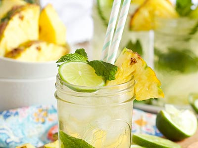 Sparkling Pineapple Cocktail