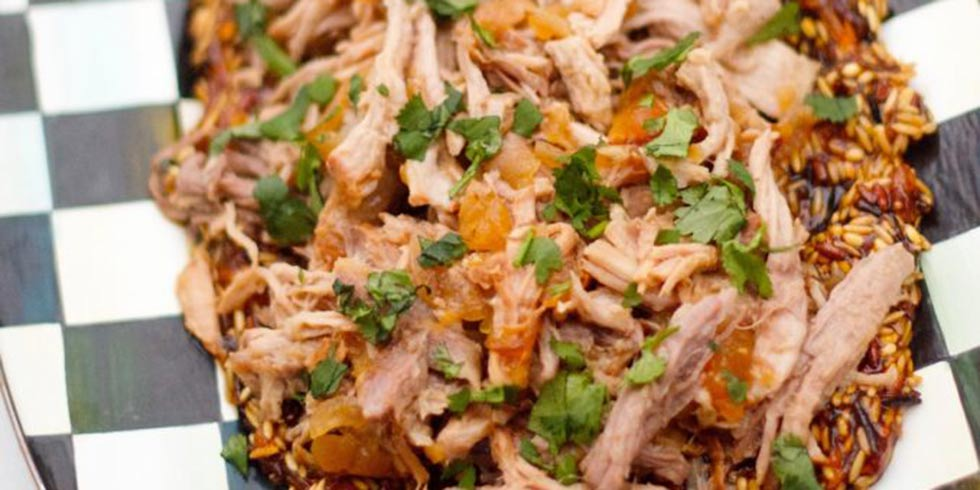 Slow Cooker Pulled Pork with Chutney