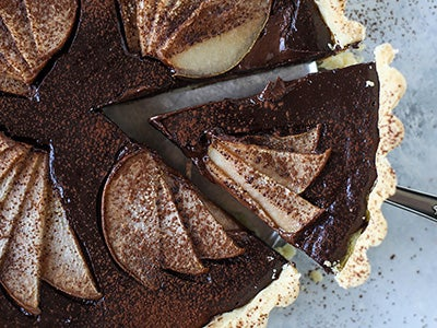 Semi Sweet Chocolate Pear Tart