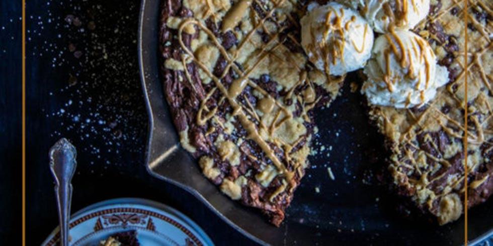 Peanut Butter Skillet Brownie Cookies
