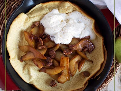 Simple Spiced Pear Dutch Baby