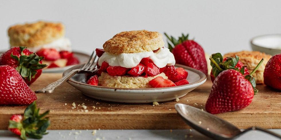 Classic Strawberry Shortcake with Lemon Whipped Cream