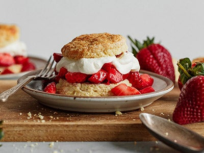 Classic Strawberry Shortcake with Lemon Whipped Cream