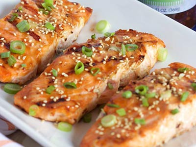 Griled Teriyaki Salmon