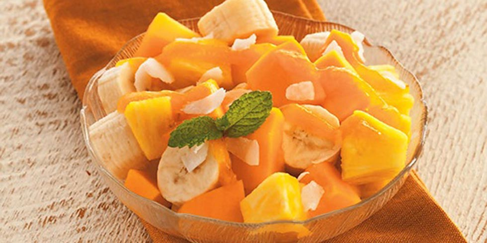 Mint and Tropical Fruit Salad